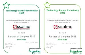 SCAIME, Schneider Electric partner of the year