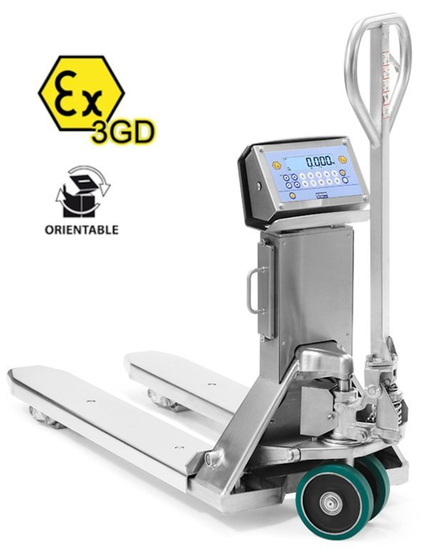 TPWX3GDI Zone 2/22 ALL STAINLESS STEEL PALLET TRUCK