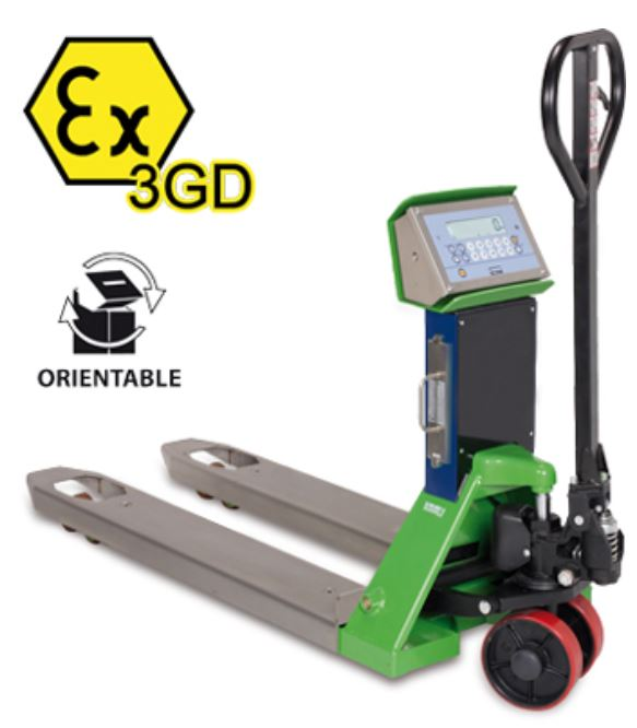 TPWX3GD ZONE 2/22 ATEX PALLET TRUCK - MILD STEEL WITH STAINLESS STEEL FORKS