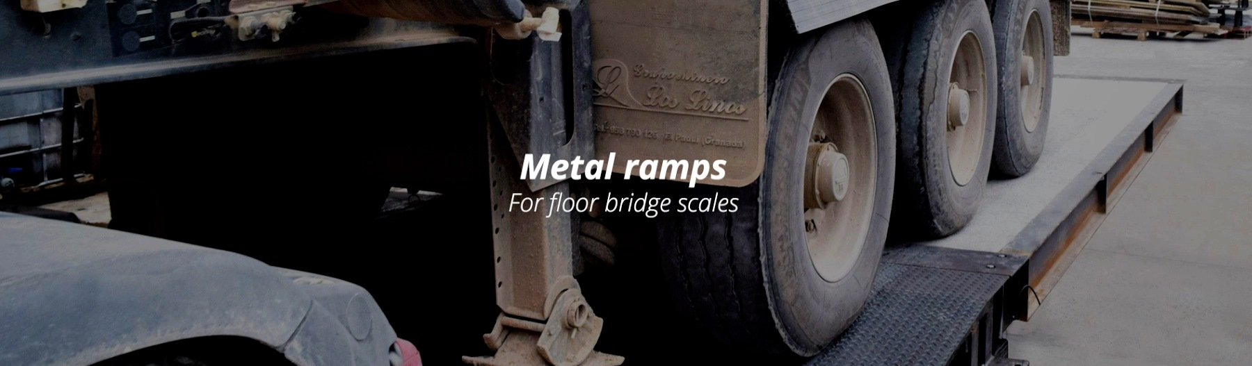 METAL RAMPS FOR FLOOR BRIDGE SCALES-a