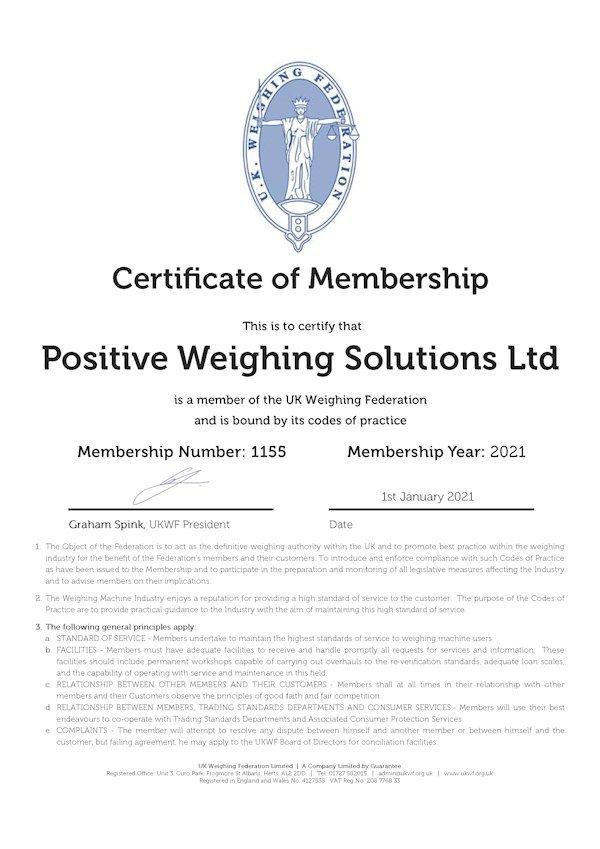 UK Weighing Federation 2021